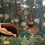 """Henri Rousseau The Dream Jungle Flowers Surrealism"" by masterpiecesofart"