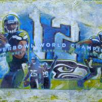Seahawks 2014 Superbowl Champs Art Prints & Posters by Greg Simanson