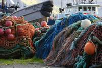 Dutch Harbor Fishing Nets and Boats