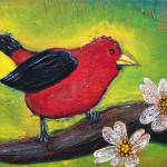 """Scarlet Tanager"" by ArtPrints"
