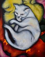 Franz Marc's 'Cat on a Yellow Pillow'