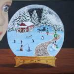 """snowglobepaintinglarge"" by mozache"