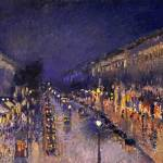 """Camille Pissarro The Boulevard Montmartre At Night"" by masterpiecesofart"