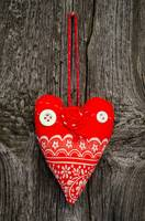 Handmade fabric heart