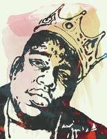 Biggie Smalls pop art sketch portrait