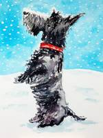 Scottie Dog in the snow