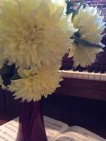 Yellow Dahlias with Piano