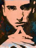 Eminem pop art sketch portrait poster
