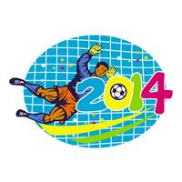 Brazil 2014 Goalie Football Player Retro