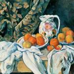 """Paul Cézanne Still Life with A Curtain And Flowere"" by masterpiecesofart"