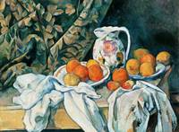 Paul Cézanne Still Life with A Curtain And Flowere