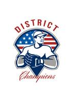 Baseball District Champions Retro