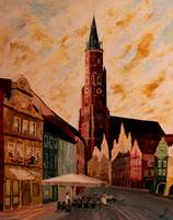 Landshut with St. Martin church and old city