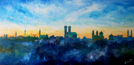 Munich Skyline With Church Of Our Lady