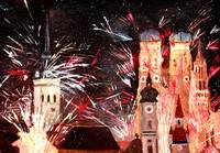 Happy New Year - With Fireworks In Munich