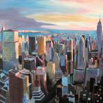 """New York City - Manhattan Skyline In Warm Sunlight"" by arthop77"