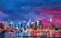New York City - Shimmering Silhouette