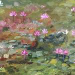 """White City Water Lilies"" by MarcyBrennanArt"
