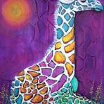 """Giraffe of Many Colors"" by ArtPrints"