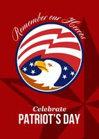 Remember Our Heroes Celebrate Patriots Day Poster