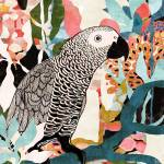 """""""Parrot In The Jungle"""" by cozamia"""