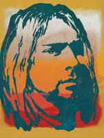 Kurt Cobain - stylised pop art poster