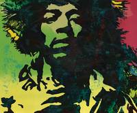 Jimi Hendrix pop etching art poster