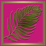 """Pink Green Palm Leaf"" by TruthJC"