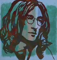 John lennon pop art sketch portrait poster