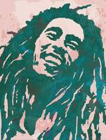 Bob Marley pop art sketch portrait poster