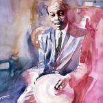 """PAPA JO JONES JAZZ DRUMMER"" by DavidLloydGlover"