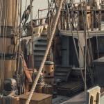 """Tall Ship - Kalmar Nyckel Ropes"" by Black_White_Photos"