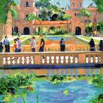 """Bridge over the Koi Pond Balboa Park"" by BeaconArtWorksCorporation"