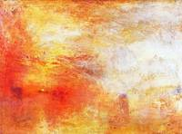 William Turner Sun Setting Over A Lake Abstract La