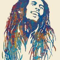 """Bob Marley etching pop art poster"" by visualharbour"