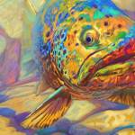 """Brown Trout Fish Art - Walters Pool"" by Savlen"