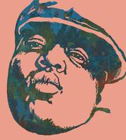 Biggie Smalls Modern Art Drawing Poster