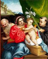 Lorenzo Lotto - The Virgin and Child with Saints