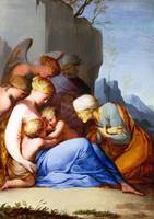 Lubin Baugin - The Holy Family with Saints and Ang