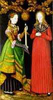 Lucas Cranach the Elder - Saints Genevieve and Apo
