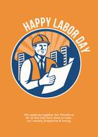 Labor Day Celebration Poster Retro