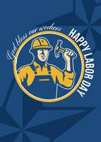 Happy Labor Day Worker Greeting Card