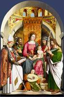 Marco Marziale - The Virgin and Child with Saints