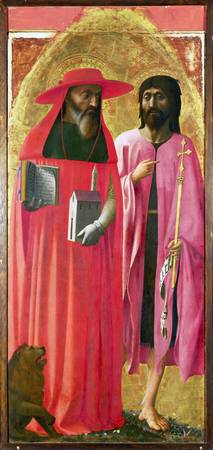 Masaccio - Saints Jerome and John the Baptist