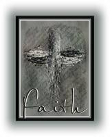 grunge cross gray text faith