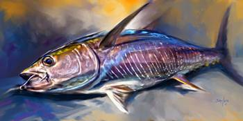 Yellowfin Tuna Sportfishing Art -