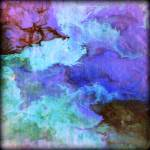 """Fluid abstract in blue and purple"" by LizMoran"