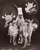 Shirley Temple And The Gang - Sepia