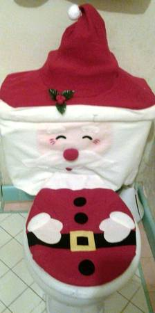 Santa Bathroom Cover