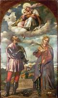 Moretto da Brescia - The Madonna and Child with Sa